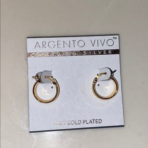 18kt gold plated mini hoops